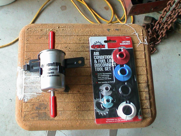 brooks documents his fuel lightning filter change with pictures Ford Expedition Fuel Filter Location here is a pic of the new filter and the \